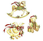 Christmas Geese Bear Horse Waterslide Ceramic Decals Bx image