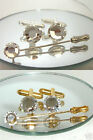 1-4 Wedding Crystal Cufflinks & Cravat Tie Pin sets made with SWAROVSKI ELEMENTS