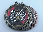 """2-3/4"""" FCL Racing Flag Medal w/Ribbon Any Qty Ships Flat Rate $5.49 in USA"""