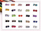 Annie's Qualited Wedding/Party/Ceremony Plated Silver Cufflinks 25 Colors Stock