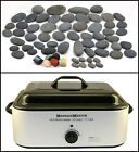 HOT STONE MASSAGE KIT: 65 Natural Basalt/Chakra Stones + 18 Quart Heater