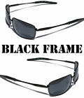 Performance Eyewear Rectangular Sunglasses Black Green Brown Amber Aviator