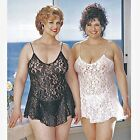 Plus Size Lingerie 1X 2X 3X 4X 5X or 6X Ivory or White Lace Chemise   SOHX3380
