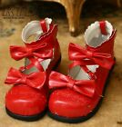 """Customized Mono Color Sweet Lolita Scalloped Mary Janes Dolly Heel 1"""" Heel Shoes"""