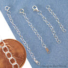 STERLING SILVER .925 Safety or EXTENDER CHAIN Custom Handmade Your Length + X3L