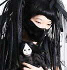 Guro Lolita Gothic Patent Black Ghost Devil Mask Medical Hostipital Nurse Doctor