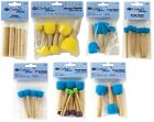 SETS OF SPONGE STIPPLER DABBER PAINT BRUSHES FOR STENCILS & CREATING TEXTURE R/B