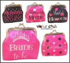 HEN NIGHT Coin Purse MOTHER of BRIDE/GROOM BRIDE to BE BRIDESMAID MAID of HONOUR