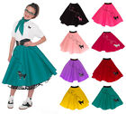 Hip Hop 50s Shop Girls Large 10/12 Poodle Skirt Halloween or Dance Costume Set
