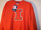 704R3 Champion Illinois Fighting Illini Orange Sweatshirt Adult MD Medium