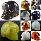 More Choice Carved Smart Skull 1.2 inches Room&Garden Car Decoration Figurine