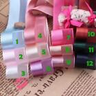 New 1 Inch 25mm 5 Yards Satin Ribbon with Shadai Chiffon /craft/wedding 12 Color