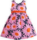 Girls Dress Sunflower Party Children Clothes SZ 2 3 4 5 6 7 8 9 10 NWT