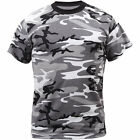 Adult T-Shirt  Gray Sky Blue Urban Camouflage Grey City Fashion Camo Tee