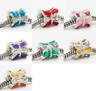 20pc Silver Plated Crystal THREAD Lace Barrel Bead Fit Bracelet AB059