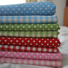 Shabby Chic Gingham Check Polka Dots Ticking Stripe Cotton Linen Fabric - FQ