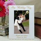 Personalized  Wedding Picture Frame Our Wedding Wedding Photo Frame 2 sizes