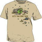 Sesame Street Oscar The Grouch Talk Some Trash TAN Adult Shirt