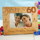 Personalized 60th Birthday Picture Frame Engraved Milestone Photo Frame 3 sizes