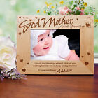 Personalized Godparent Picture Frame Engraved Godmother Godfather Frame 3 sizes