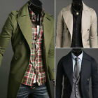 Mens New Style Collar Double-Breasted Jacket Trench Coat 3 Color 4 Size M1894
