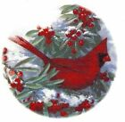 Winter Cardinal Bird Snow Red Berries Select Size Ceramic Waterslide Decals Xx image