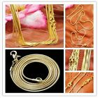 Sn-2 Wholesale ! New plated-gold snake chain necklace 10 pcs