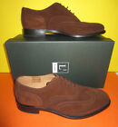 Loake Mens Shoes - 202 - Brown Suede (Leather) Lace Up Brouge Style