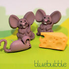FUNKY MOUSE CHEESE MIX EARRINGS SWEET CARTOON CUTE KITSCH FOOD PET ANIMAL QUIRKY