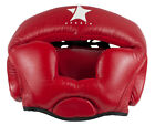 Boxing, Muay Thai & Martial Arts Leather Head Guard Protector Red
