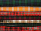 Tartan Plaid Check Designer Curtain Upholstery Craft Quilting Multi Use Fabric