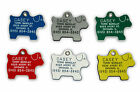 Puppy Dog Shape Pet ID Tag Identification Engraved Name, Owner, Address, Phone