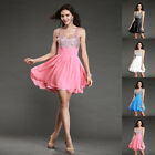 Sexy Strapless Bridesmaid Grown Party Short Formal Prom Ball Evening Women Dress