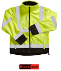 Mens Blackrock Two Tone Soft Shell Hi Viz Visibility Yellow Fleece Jacket Coat