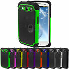 NEW SHOCK PROOF CASE COVER FITS SAMSUNG GALAXY S3 I9300 FREE SCREEN PROTECTOR