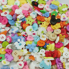 Assorted Cartoon Animal Flower Vehicle Plastic Buttons Sew Scrapbook Cardmaking