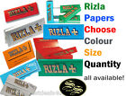 RIZLA GREEN BLUE RED SILVER LIQUORICE ATANDARD REGULAR SMALL KING SIZE SLIM