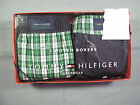 Tommy Hilfiger Mens Underwear Gift Pack 2 Boxers Green Plaid Black Cotton NWT