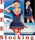 Ladies Sexy Sailor Sea Fancy Dress Costume Outfit Many Styles & Sizes