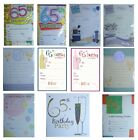 65th BIRTHDAY (Age 65) Party INVITATIONS & Envelopes {Fixed £1 UK p&p}(PI)