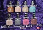 MAYBELLINE EXPRESS FINISH  quick fast dry nail polish varnish CHOICE of shades