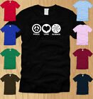 PEACE LOVE SCIENCE LADIES T-SHIRT LARGE funny nerdy geeky college WOMEN tee L