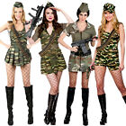 Adult Ladies Sexy Army Military Soldier Uniform Fancy Dress Costumes War Womens
