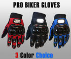 Carbon Fiber Motorcycle Pro-Biker Motorbike Racing Full Finger Gloves (M/L/XL)