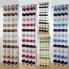 """Luxury Woven Voile Panel Eyelet Curtains - Stirling - 54"""", 72"""" & 90"""" Drop"""