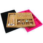 LUXURY VELVET Ring Necklace Bracelet Jewellery Display Box Case Stand Organiser