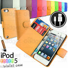 LEATHER FLIP CASE COVER POUCH WALLET FOR APPLE IPOD TOUCH 5 5G 5TH GEN