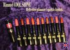 Rimmel COOL SHINE LIPSTICK shimmer glitter sparkle nude pink brown peach red