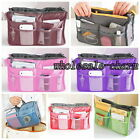 7 Colors New Useful Dual Organizer Insert mp3 phone Nylon Cosmetic Storage Bag