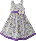 Girls Dress Butterfly Purple Wedding Sundress Child Clothes Size 2-10 NWT